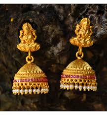 earrings online buy antique pearl ruby lakshmi jhumkha earrings online kollam supreme