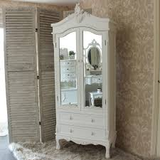 Shabby Chic Furniture Cheap Uk by Antique White Painted Mirror Closet Shabby French Chic Furniture