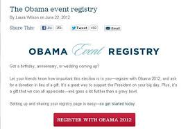 donation registry wedding fact check obama event registry