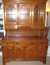 ethan allen china cabinet vintage ethan allen baumritter maple hutch buffet great for china