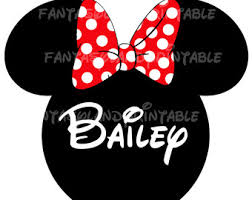 minnie mouse glasses classic red bow silhouette diy