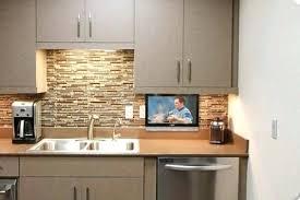 under cabinet mount tv for kitchen tv for kitchen under cabinet for kitchen with kitchen idea image 9
