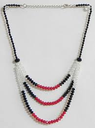 red crystal bead necklace images White black and red crystal bead necklace jpg