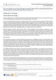 sociology essay sample sociology essay writing sociology essay writing sociology essays mental health illness in