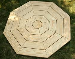 octagon picnic table plans with umbrella hole octagon picnic tables plans best table decoration
