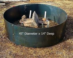 Large Fire Pit Ring by Stainless Steel Fire Pit Ring Insert 36 X 12