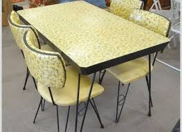 Yellow Retro Kitchen Chairs - glass table kitchen chairs tables drop leaf round retro table