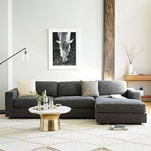 Blue Sectional With Chaise Modern Sectional Sofas West Elm