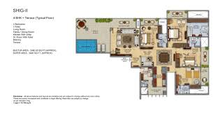 mahagun meadows noida sector 150 shig 2 floor plan 3400sqft click on image to enlarge view
