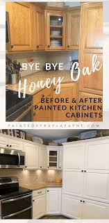 stain colors for oak kitchen cabinets bye bye honey oak kitchen cabinets hello brighter kitchen