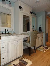 double sink vanities with make up vanity antique browns in