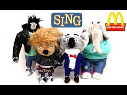 2016 sing plush mcdonald s happy meal toys set