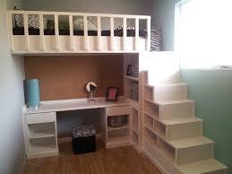 bedroom lovely desk with shelves loft beds and loft on