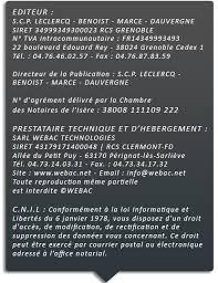 chambre des notaires de l isere maîtres didier leclercq henry benoist olivier marce et julien