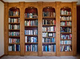 Oak Bookcases With Doors by Custom Made Built In Oak Bookshelves Game Room Pinterest Oak