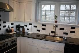 black kitchen tiles ideas black and white subway tile gnscl
