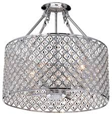 Crystal Ceiling Mount Light Fixture by Crystal Semi Flush Chandelier Contemporary Flush Mount Ceiling