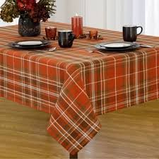 loden plaid fabric harvest cotton woven tablecloth free shipping