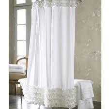 Shower Curtain Design Ideas Bathroom White Ruffle Shower Curtain Shower Curtain With