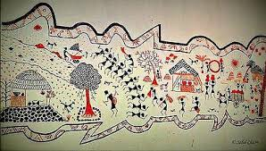 Warli Art Simple Designs Warli Art U2013 Sanskriti Vintage