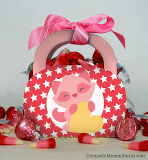 valentines day printables raccoon purse treat bag domestic