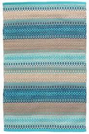 Grey And Turquoise Rug Dash And Albert Gypsy Stripe Turquoise Grey Woven Cotton Rug Ships