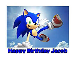 sonic the hedgehog cake topper sonic the hedgehog edible image photo sugar frosting