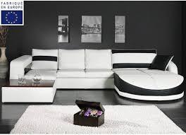 canapé d angle blanc et noir canapé d angle design simili blanc et noir angle droit okyo