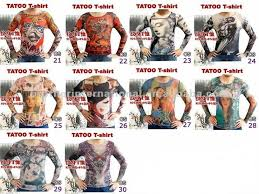 nylon long sleeve fake tattoo tshirt buy tattoo t shirt tattoo