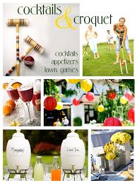 cocktails and croquet party planning pinterest