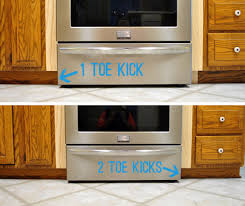 kitchen cabinet toe kick ideas adding toe kicks a window sill house