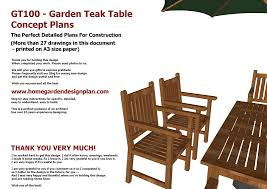 Plans For Wood Deck Chairs by Home Garden Plans Gt100 Garden Teak Tables Woodworking Plans
