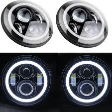 jeep headlights halo 7 u0027 u0027 40w jeep wrangler headlamp with angel eyes jeep wrangler light
