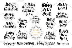 merry design set illustrations creative market