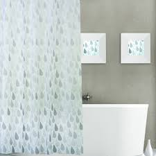 dainty home raindrops plastic shower curtain 13 piece set shower