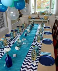 Ideas For Centerpieces For Birthday Party by Best 25 Blue Party Decorations Ideas On Pinterest Baby Shower