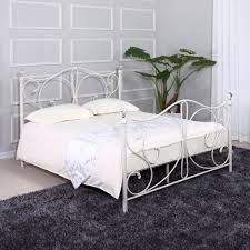 ikea leirvik white metal double bed frame bedding sets