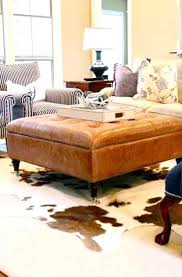 Large Leather Ottoman Leather Coffee Table Ohfudge Info