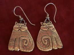 laurel burch earrings laurel burch goldtone cat earrings what s it worth
