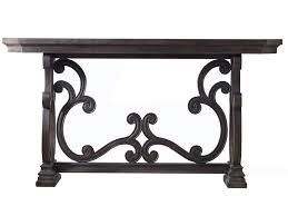 hooker furniture console table hooker furniture living room accents da valle scroll console table