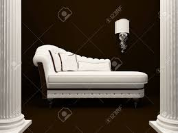 classic sofa in the middle of pillars stock photo picture and