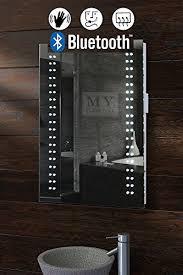 Bluetooth Bathroom Mirror My Furniture Led Illuminated Bluetooth Bathroom Mirror Ip44