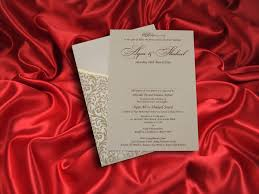ivory velvet finish pocket wedding invitation card ba5471