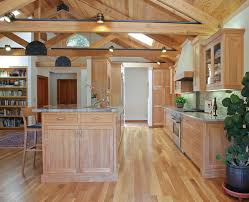 Rustic Birch Kitchen Cabinets by Oak Kitchen Cabinets Ideas Kitchen Rustic With Accent Lighting