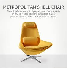 Yellow Chair Wesome Metropolitan Leisure Swivel Armchair In Yellow Wool