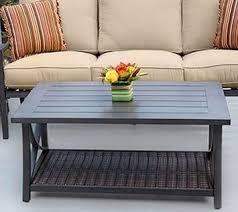 Aluminum Coffee Table Agio Davenport Woven And Aluminum Coffee Table Westrich