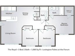 floor plans 3 bedroom 2 bath 3 bedroom apartment floor plans pricing palms at the