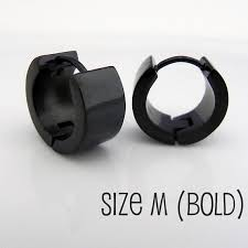 black earrings for guys mens earrings jet black huggie hoop ear cartilage piercing