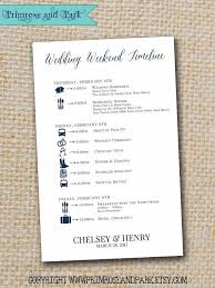 wedding itinerary for guests wedding itineraries printable pdf wedding weekend timeline