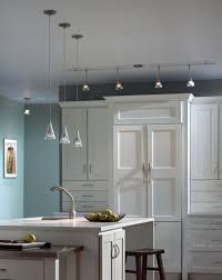 bedroom straight glass track lighting ceiling pendant clear